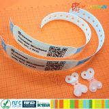사회 복지 인쇄할 수 있는 참을성 있는 ID 소맷동 비닐 PP 합성 종이 RFID NTAG213