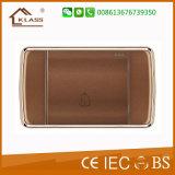 새로운 디자인 브라운 색깔 16A 현관의 벨 스위치