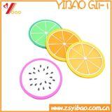Forme de coupe de fruits colorés tapis en silicone