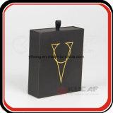 Il nero caldo su ordinazione di marchio dell'oro della stagnola ha fatto scorrere la casella del cassetto con il nastro