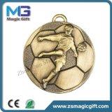 L'usine de médaille de la Chine font la médaille en métal de récompense de médaille de Foodball de sport