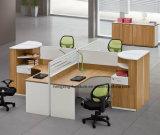 Poste de travail à extrémité élevé de partition de bureau de mélamine de bureau (HX-NCD065)