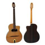 Do vintage contínuo do cedro de Archtop guitarra acústica do cigano de Maccaferri