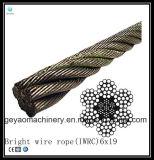 Núcleo da fibra 6X21 galvanizado/Brilhante/cabo de aço inoxidável linha de perfuração