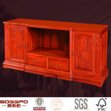 Antique Solid Mahogany Wood Corner TV Stand Cabinet (GSP15-007)