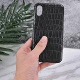 Königlicher echtes Leder-Handy-Luxuxfall für iPhone 8