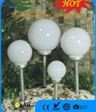 Lumière argentée peinte de pieu avec le globe de 15cm