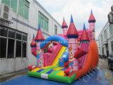Trasparenza gonfiabile del castello di tema del fumetto di Inflatables per i capretti