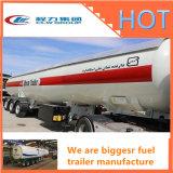 La promotion de trois essieux 50000 litres essence/huile/réservoir de carburant semi-remorque, le ravitailleur en acier inoxydable pour la vente de remorques