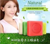 Savon fabriqué à la main normal Bioaqua d'essence de pétrole blanchissant le savon de lavage de corps facial de savon