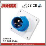 Plugue industrial montado painel de IP44 3p 16A