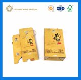 Rectángulo de envío acanalado impreso para el alimento con la maneta del algodón (crear aceptable para requisitos particulares)