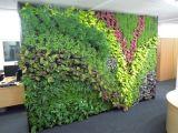 Neue Entwurfs-Landschaftsentwurfs-orange Blatt-Fälschungs-Gras-Wand-künstliche grüne Wand für Dekoration