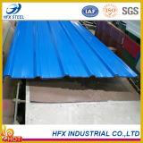 建物の屋根のための上塗を施してある波形の鋼鉄屋根瓦を着色しなさい