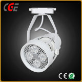 Las luces interiores AC85-265V la vía de mazorca de luces LED LED blanco negro de la luz de la vía foco LED de iluminación de pista de las lámparas PAR30 para la exposición