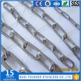SS304 ou SS316 DIN766 de elos das correntes de cães