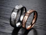 Het Paar van de Minnaar van de Vrouwen van de Mannen van de Diamant van het Bergkristal van de manier belt de Juwelen van het Roestvrij staal