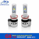자동 빛 72W 6000lm 크리 사람 Xhp-50 G8 LED 차 헤드라이트 장비 H8 H9 H11 H16jp