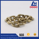 黄色い亜鉛によってめっきされるG80合金鋼鉄持ち上がる鎖