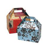 Decorativa Caja de regalo de Navidad de cartón con asa y arco