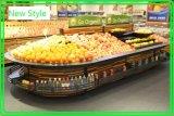 Prateleira de indicador da fruta e verdura do supermercado