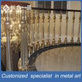 工場製造304#のステンレス鋼の屋内階段Balastradeかホテルまたは別荘のための柵