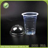 Kälte 450ml/15oz, die Wegwerfplastikluftblasen-Tee-Cup mit Kappen und Strohen trinkt