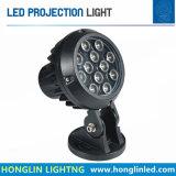Projector arquitectónico ao ar livre do diodo emissor de luz da luz 12*1W do projetor da iluminação 12W