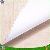 Tissu ignifuge de rideau en arrêt total d'enduit imperméable à l'eau de polyester tissé par textile pour le guichet