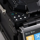 X86h ähnliche Inno Kern-Ausrichtung Faser-Schmelzverfahrens-Filmklebepresse, optische verbindene Maschine