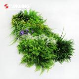 ホーム装飾のための容易にアセンブルされた新しいPEの人工的な緑の草木の群葉