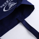 Хозяйственная сумка холстины плеча высокого качества синяя для рекламировать