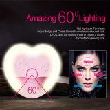 Van de Roze LEIDENE van de Prijs van de fabriek het Licht Flits van Selfie, Hart Gevormd Flitslicht