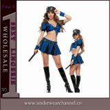 Costume d'usager de cop de festival de carnaval de policier de femmes de Veille de la toussaint (TLQZ14249)