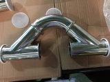 ステンレス鋼の三クランプが付いている衛生45度側面Yのタイプティー