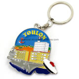 Atacado Colorful Monaco Soft Elam Metal Keychain
