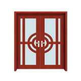 Porta de madeira do toalete do PVC da madeira da casa da casa das plantas