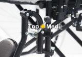 신체 장애자를 위한 표준 크롬 도금을 한 강철 프레임 병원 수동 휠체어
