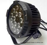 IP65 18*15W6in1 het LEIDENE RGBWA+UV Vlakke Slanke Licht van het PARI