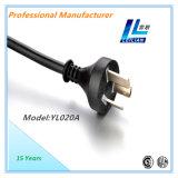 cabo de potência padrão de 20A 250V Argentina com certificado