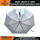 bekanntmachender Stahlregenschirm 21inch*8K automatischer 3folding