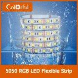 Bolha que embala a luz de tira elevada do diodo emissor de luz do CRI DC12V RGB SMD5050
