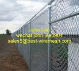 Maillon de chaîne en acier galvanisé à chaud la clôture de feux de croisement