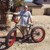 3 7speed Retro/Weinlese/Kreuzer des Nostalgie-Strand-20X4 oder 26X4 breit/fettes Reifen-Fahrrad/fettes Gummireifen-Fahrrad/Sand/Schnee-Fahrrad/fetthaltiges Fahrrad-weißer Wand-Gummireifen