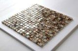 Mosaico del shell de agua dulce y del vidrio de mármol y cristalino