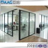 Parete di vetro del divisorio modulare di alluminio materiale di profilo del muro divisorio dell'ufficio