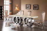 Tabella pranzante del marmo stabilito di Rosegold della mobilia dell'hotel (A6688-1)