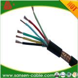 Cu/PVC/tela de fio de cobre entrançado/PVC Lsoh Cabo de Controle