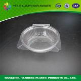 Recipiente articulado do empacotamento plástico da tampa, recipiente desobstruído do animal de estimação