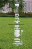 De witte Gealigneerde en Matrijs Perc van Perc van de Honingraat met Vele Gaten en Waterpijp van het Glas van het Snuifje van het Ijs